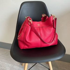 Raspberry Coach Leather Purse